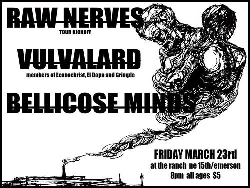 2/23/12 RawNerves/Vulvalard/BellicoseMinds