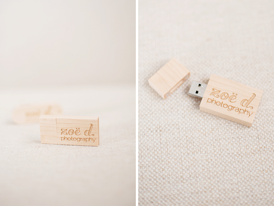 zoe d photography wooden usb thumb drive packaging
