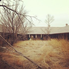 Abandoned Russian schoolhouse in west Texas.