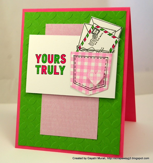 Yours Truly card