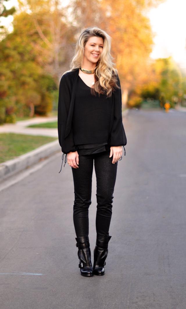 black outfit - all black - black on  black