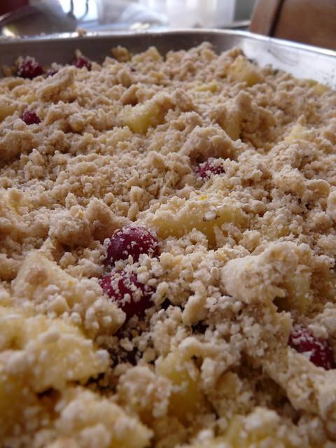 Apple Cranberry Cobbler - unbaked