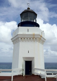 Image of Arecibo Lighthouse near Arecibo. sea sky lighthouse clouds puertorico aricebo