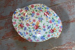 chintz dish vintage antique royal winton old cottage