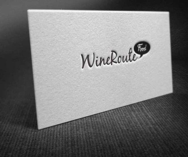 WineRouteFood business cards (front)