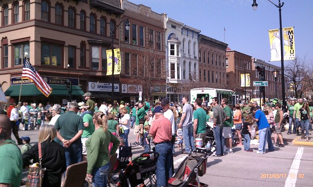 Parade spectators in Springfield