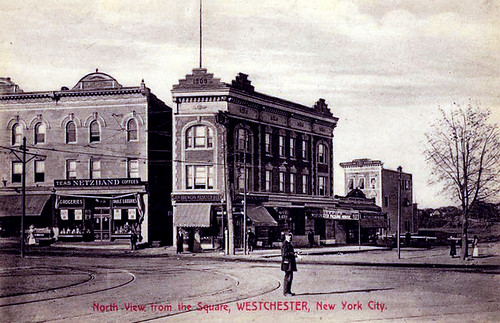 Westchester Square, The Bronx, New York City,  postcard, about 1909