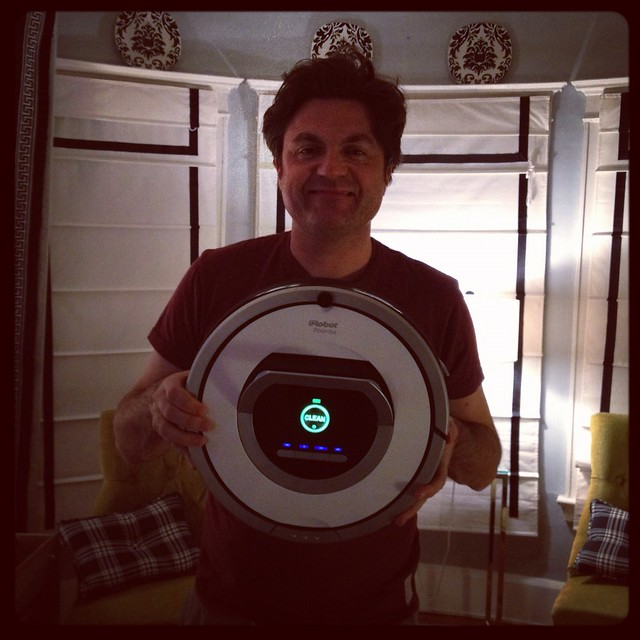 A proud Roomba owner