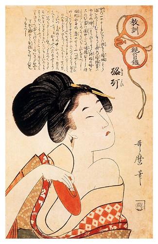 003-La cortesana Drunke-1793-Kitagawa Utamaro-Ciudad de la Pintura