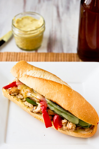 Chicken Cheesesteak Sandwiches with Mustard Blend