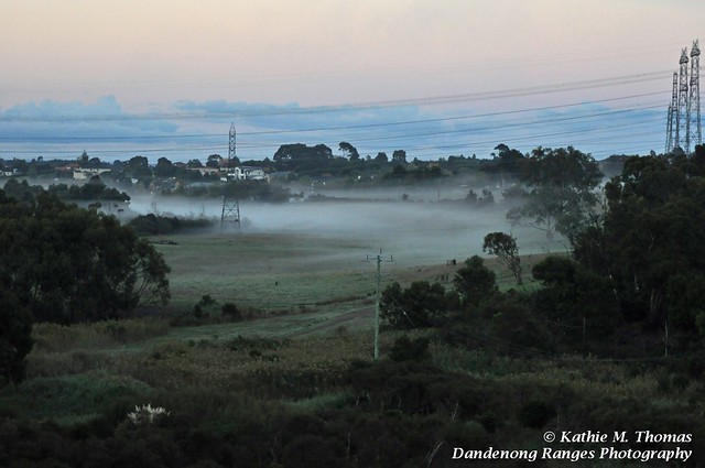 The mist over the valley