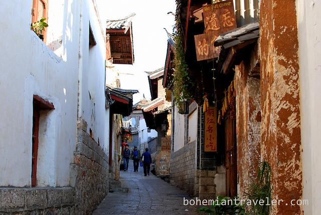 back street of Lijinag Yunnan China