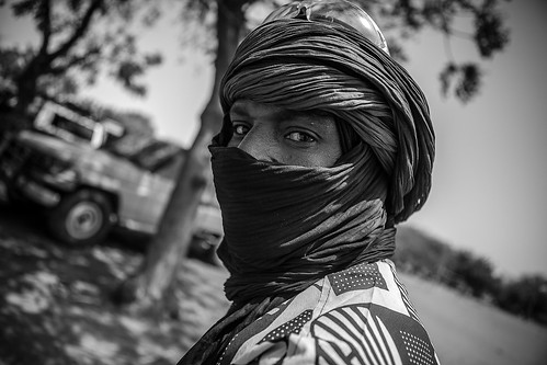 Portrait of a Tuareg in Gorom Gorom in northern Burkina Faso, Sahel by ronnyreportage