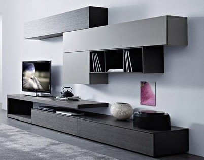 Mueble modular mesa rack living tv lcd progetto mobili for Modelos de muebles para tv modernos