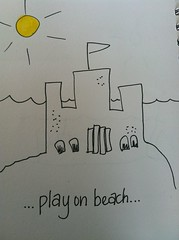 Sandcastle hand drawn