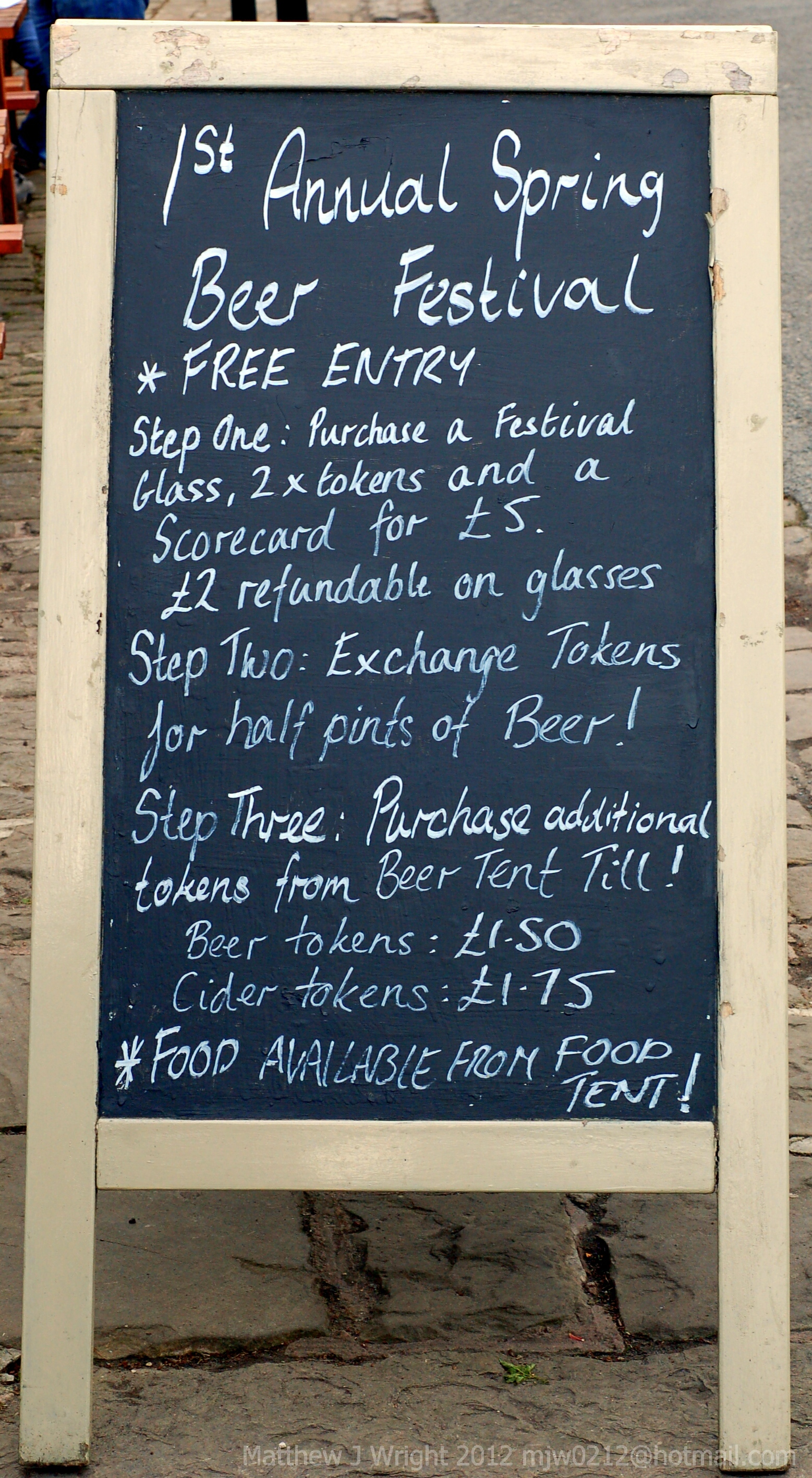 The Ship at Lathom Beer Festival April 2012