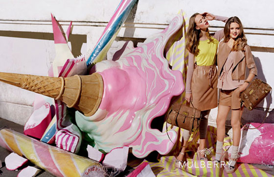 Shona Heath for Mulberry SS12 Campaign. Photo via CLM