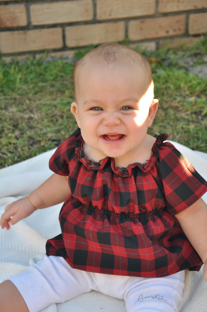 kids clothes week elsie marley day seven spring 2013 plaid tartan check pear picking tunic top easy simple baby dress