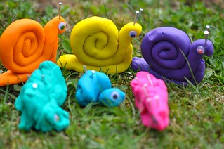 Play Dough Snails