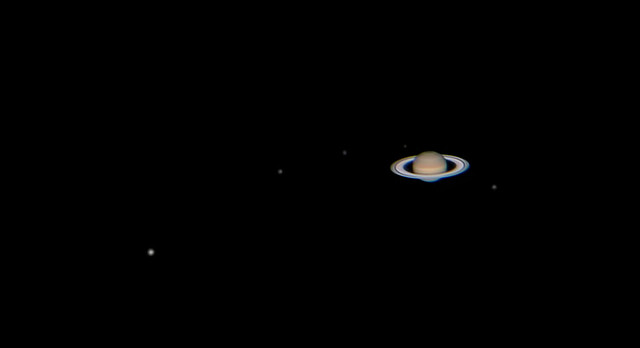 Photo:Saturn and its Moons, April 26th 2013 By:lrargerich