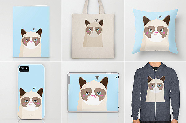 Grumpy Cat on Society6