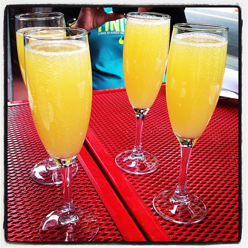 Mimosa for brunch - food also involved :-)