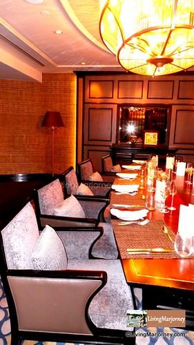 The long table inside the Hidden Room