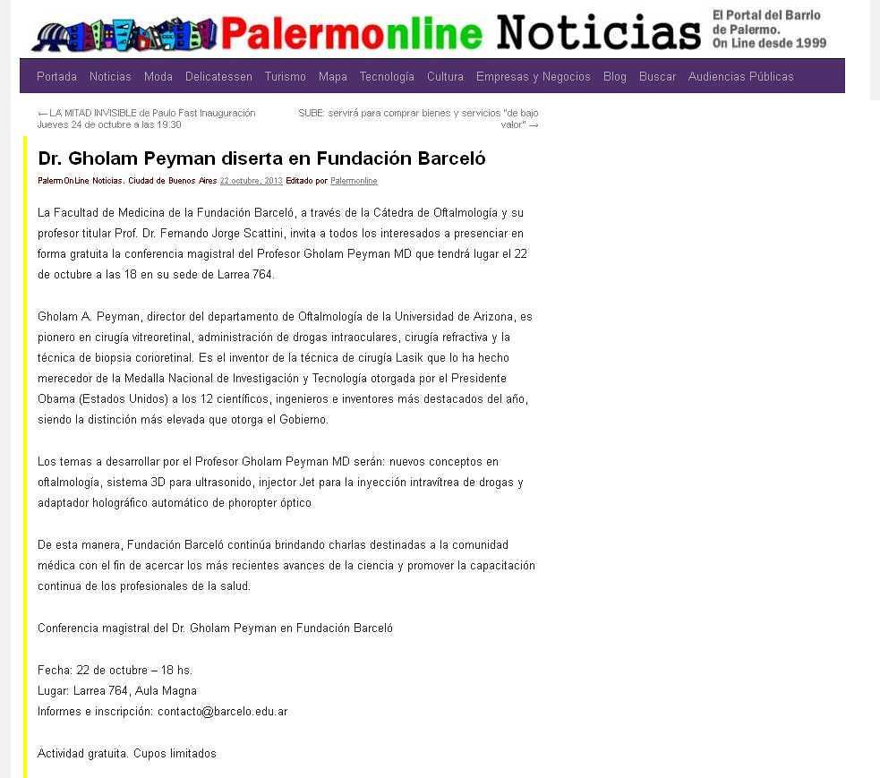 Site Palermo Online 22-10-13