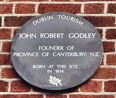 Photo of John Robert Godley brown plaque
