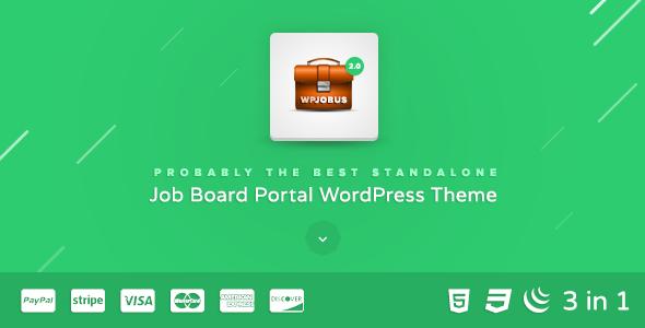 WPJobus v2.0.12 - Job Board and Resumes WordPress Theme
