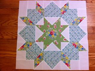 Blue & Green Swoon Quilt Block #9