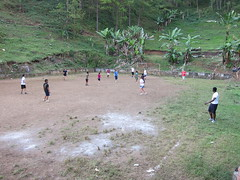 At the Bezaleel school, EMU students played against the boys in a Sunday afternoon soccer game