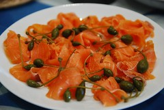 Ning's Smoked Salmon with caperberries