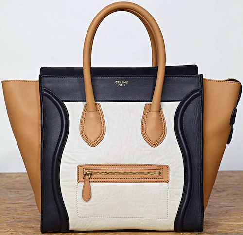 Celine-Mini-Shopper-Leather-Handbag