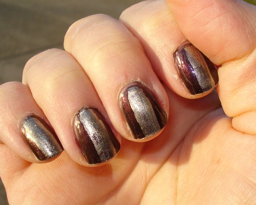 OPI Black Tie Optional and Chanel Kaleidoscope