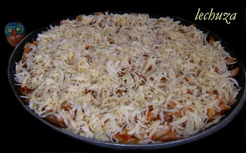 Macarrones gratinados-poner queso