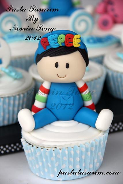 Cupcakeler pepee pastalari çizgi film karakterli pastalar