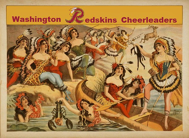 Washington Redskins Cheerleaders, after an 1898 Lithograph
