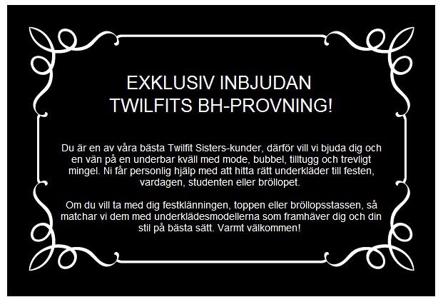 Twilfit Party Invitation