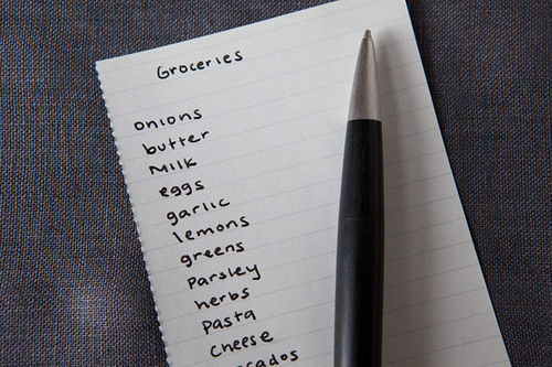 Grocery list from Food52