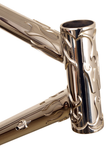 <p>Head Tube of Flame Lug Stainless Steel Waterford Frame.  62412</p>