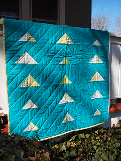going up baby quilt - done!