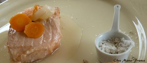 saumon mariné au vin blanc
