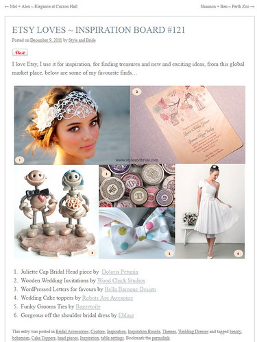 Featured on StyleandBride.com by HerArtSheLoves
