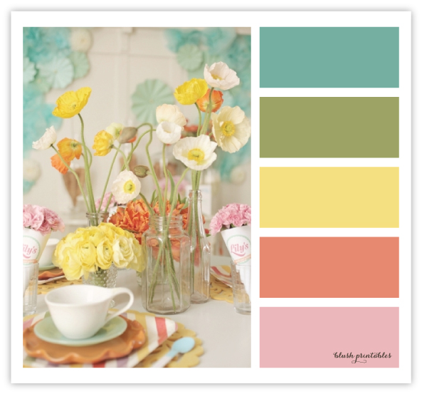 color love muted blue green and yellow wedding inspiration