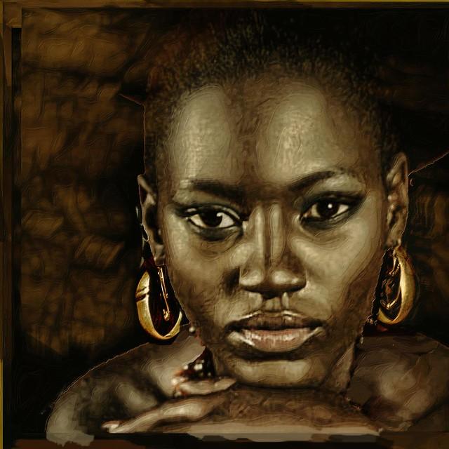 woman with earrings 2