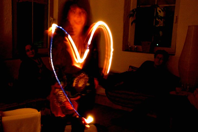 Painting heart with light