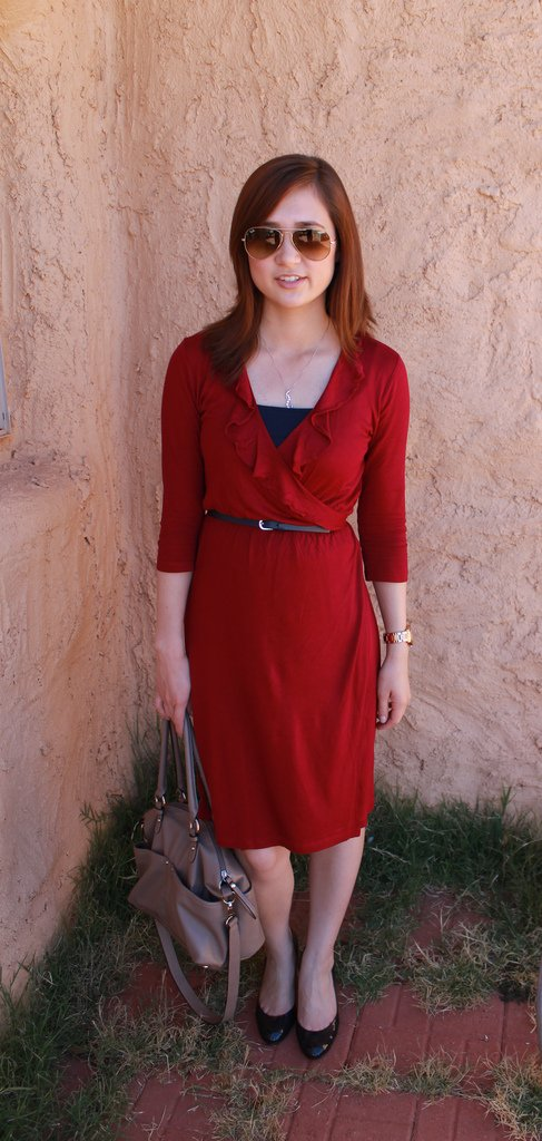 Gap Wrap Dress 001