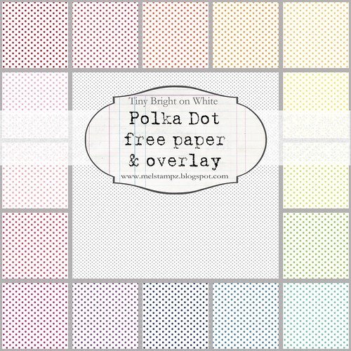 PREVIEW tiny polka dots B BRIGHT on WHITE