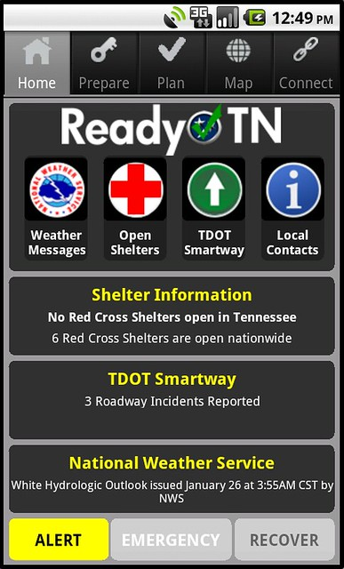 Ready TN provides a one-stop portal to get situational awareness